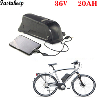 Down tube 36v 500w bafang  ebike lithium battery 36v 20ah Dolphin electric bicycle battery 36v lithium battery for electric bike