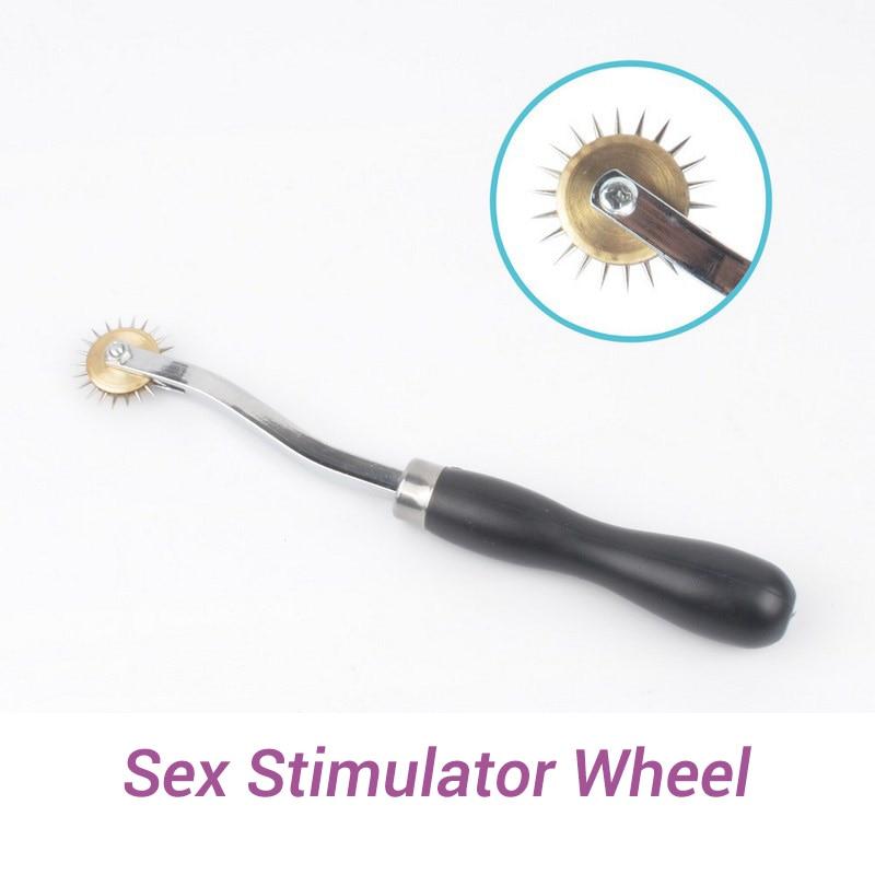 Stimulator Tickler Gear Metal Wheel Slave Bdsm Bondage Set Fetish Adult Erotic Sex Toys For Woman Couples Games Sex Products