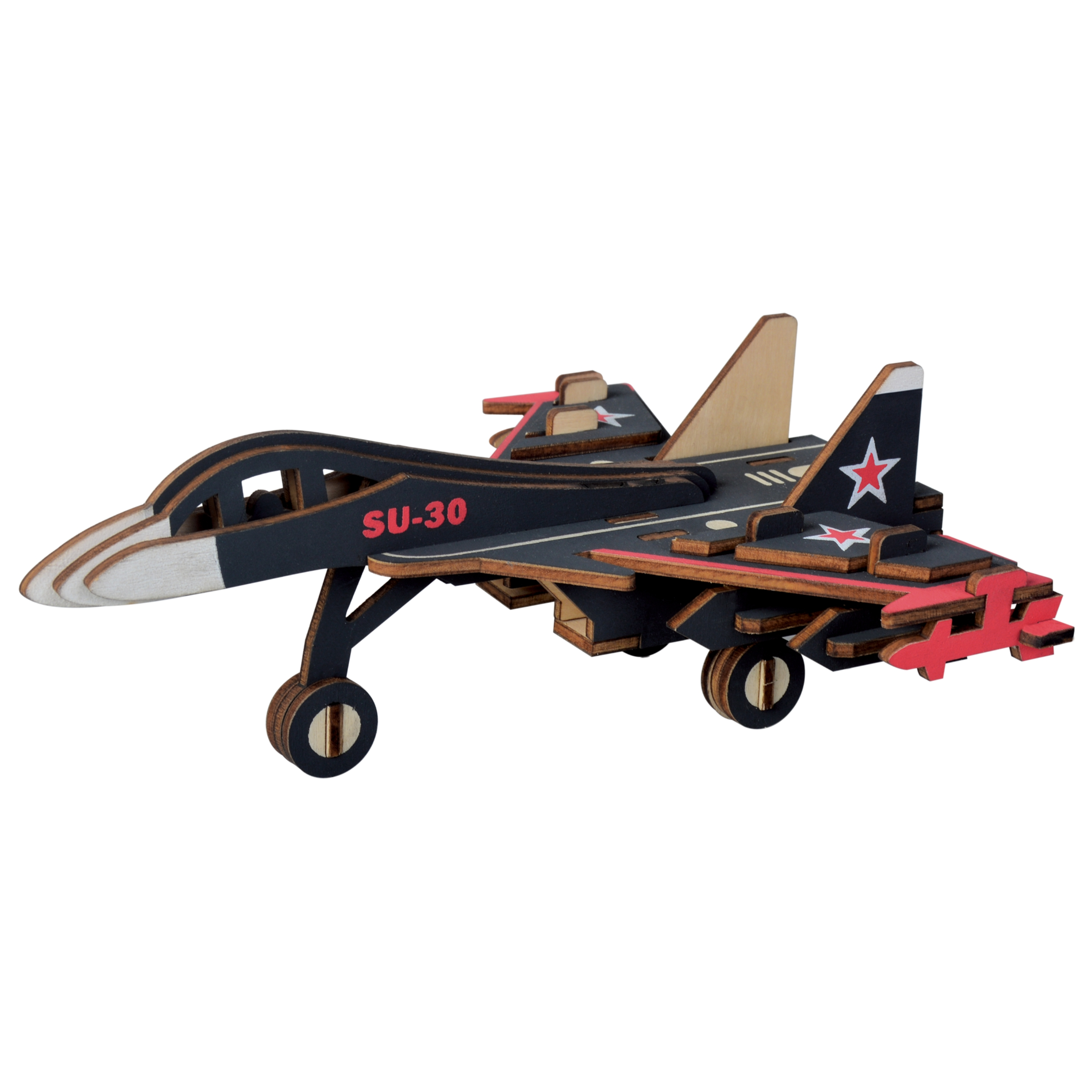 3D Puzzle Jigsaw Wooden Toys Smart Games DIY Assembly Kit 4 Styles Military Fighter Kids Learning Educational Toys For Children