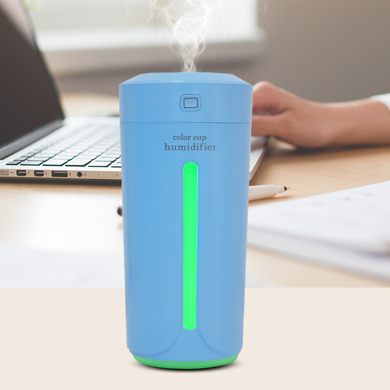 Ultrasonic Air Humidifier Essential Oil Diffuser With 4 Color Lights Electric Aromatherapy USB Humidifier Car Aroma Diffuser