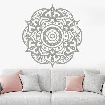 Naklejki ścienne Mandala. Namaste naklejka. Czeski dekoracja sypialni. Joga naklejki. Indyjski Maroccan wzór. Mandala Wall Art A12-068