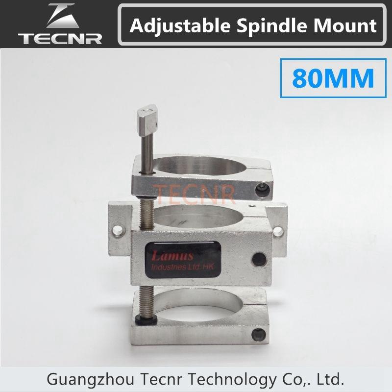 Supporto del morsetto motore mandrino regolabile 80MM per motore mandrino raffreddato ad acqua 1.5KW 2.2KW