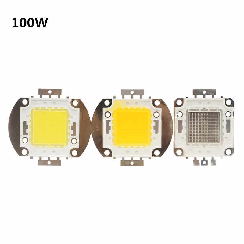 Светодиодный чип 10 Вт, 20 Вт, 30 Вт, 50 Вт, 100 Вт, высокая яркость, 9-12 В, 24-38 в, холодный белый, теплый белый, сделай сам, для прожектора, прожектора, нужен драйвер