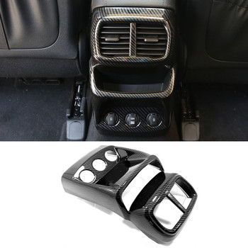 For Hyundai Santa Fe 2019 2020 Car Rear A/C Air Outlet Vent Cover Frame Sticker Car Molding Accessory 1