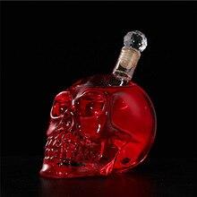 Креативная Хрустальная бутылка с черепом, бутылка для виски, водки, вина, графин, бутылки для виски, стеклянная бутылка для пива, стакан для воды, для клуба, бара, дома