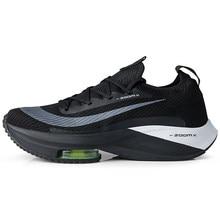 Zoomx alphaffly 4% respirável confortável dos homens tênis de corrida zoom tempo próximo flyease preto verde elétrico formadores esporte tênis