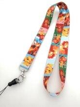 Novo 1 pçs dos desenhos animados simba leão rei chave cordão crachá cartões de identificação suportes pescoço cintas com chaveiro presentes festa favores