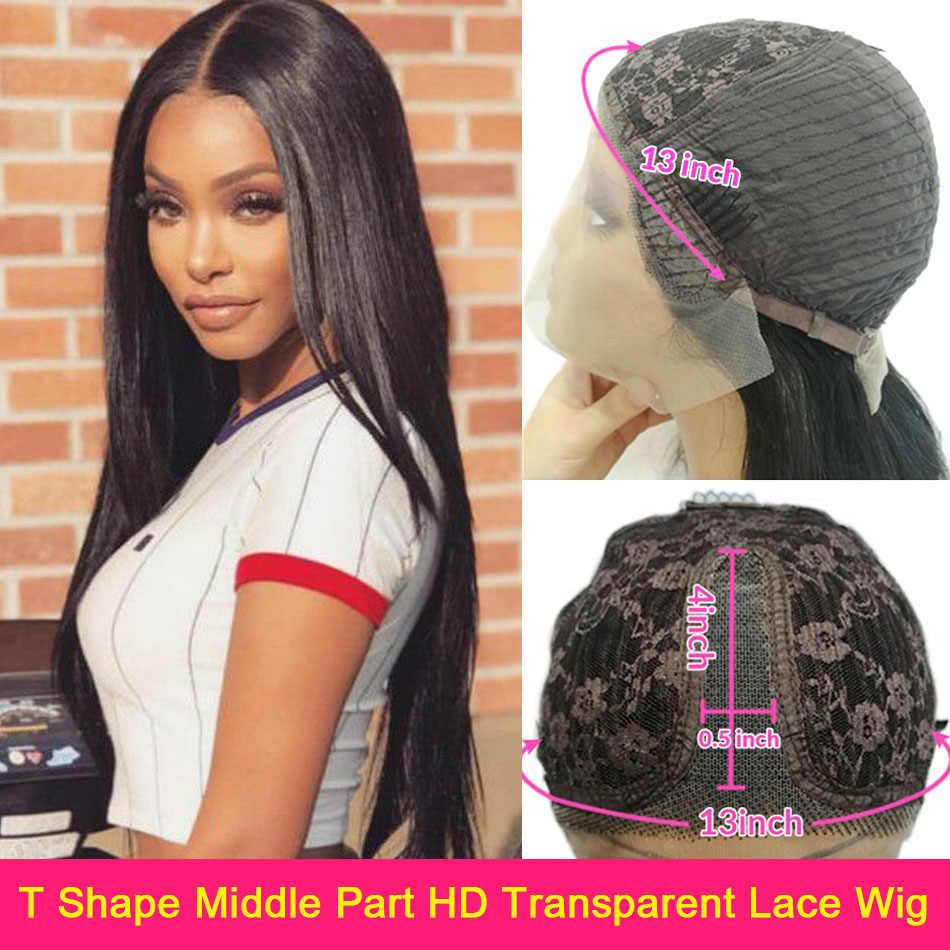 13X6 Lace Front Menselijk Haar Pruiken Straight 150% Braziliaanse Remy Human Hair Vetersluiting Pruiken 360 Hd Kant frontale Pruiken Voor Vrouwen