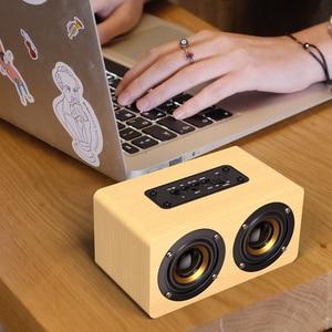 Image 5 - Swalle AUX In Legno Altoparlante Senza Fili del Bluetooth Portatile HiFi Shock Basso Altavoz TF Soundbar per il Telefono Mobile