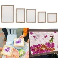 Material do jogo do fabricante de papel do quadro da fabricação de papel da tela da fabricação de papel, uso com paperbark, pétalas de flor e folhas planas