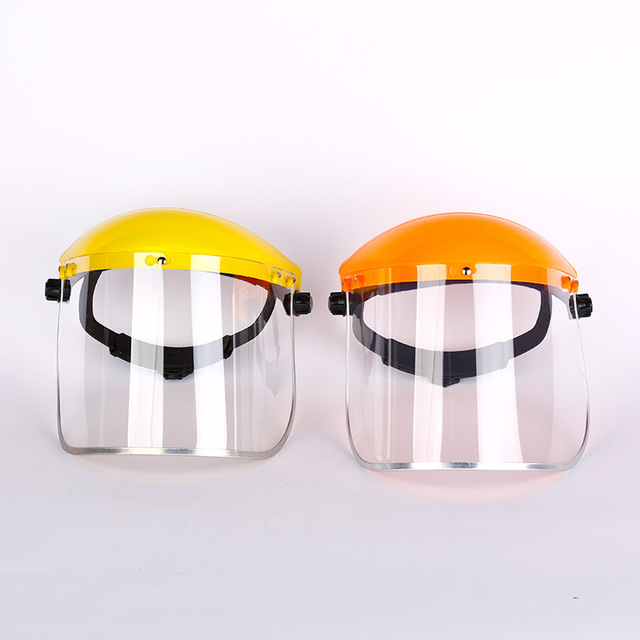 Anti-Saliva Dustproof MaskTransparent PVC Safety Faces Shields Screen Spare Visors Head Face Respiratory tract Protection 1