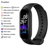 M5 Smart Band Men Women Watch Heart Rate Blood Pressure Sleep Monitor Pedometer Bluetooth-compatible Connection for IOS Android 2