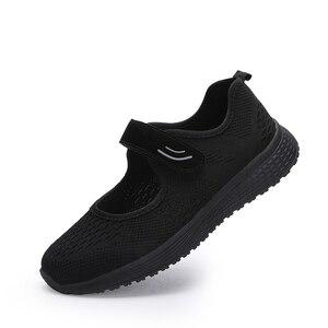 Image 3 - MWY Vrouwen Casual Schoenen Mode Ademende gebreide Vrouwen Sneakers Haak Loop Soft Trainers Outdoor Wandelschoenen Chaussure Femme