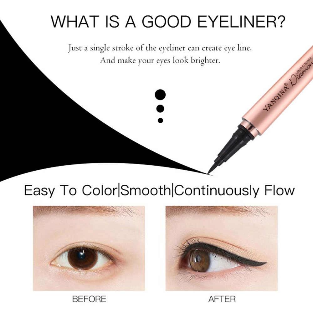 Брендовая классическая черная жидкая подводка для глаз, карандаш для глаз, быстросохнущий, долговечный, водостойкий, для глаз, для девушек, макияж, косметические инструменты TSLM2
