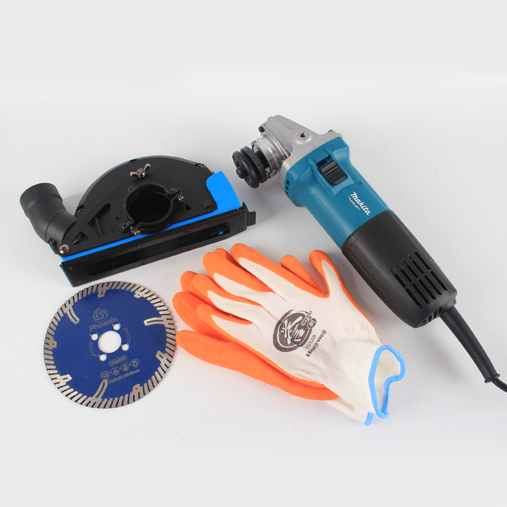 Angle Grinder Cutting Dust Shroud Kit With 125 mm Tile/Granite Diamond Saw Blade Cover Tool Dust Collector Attachment
