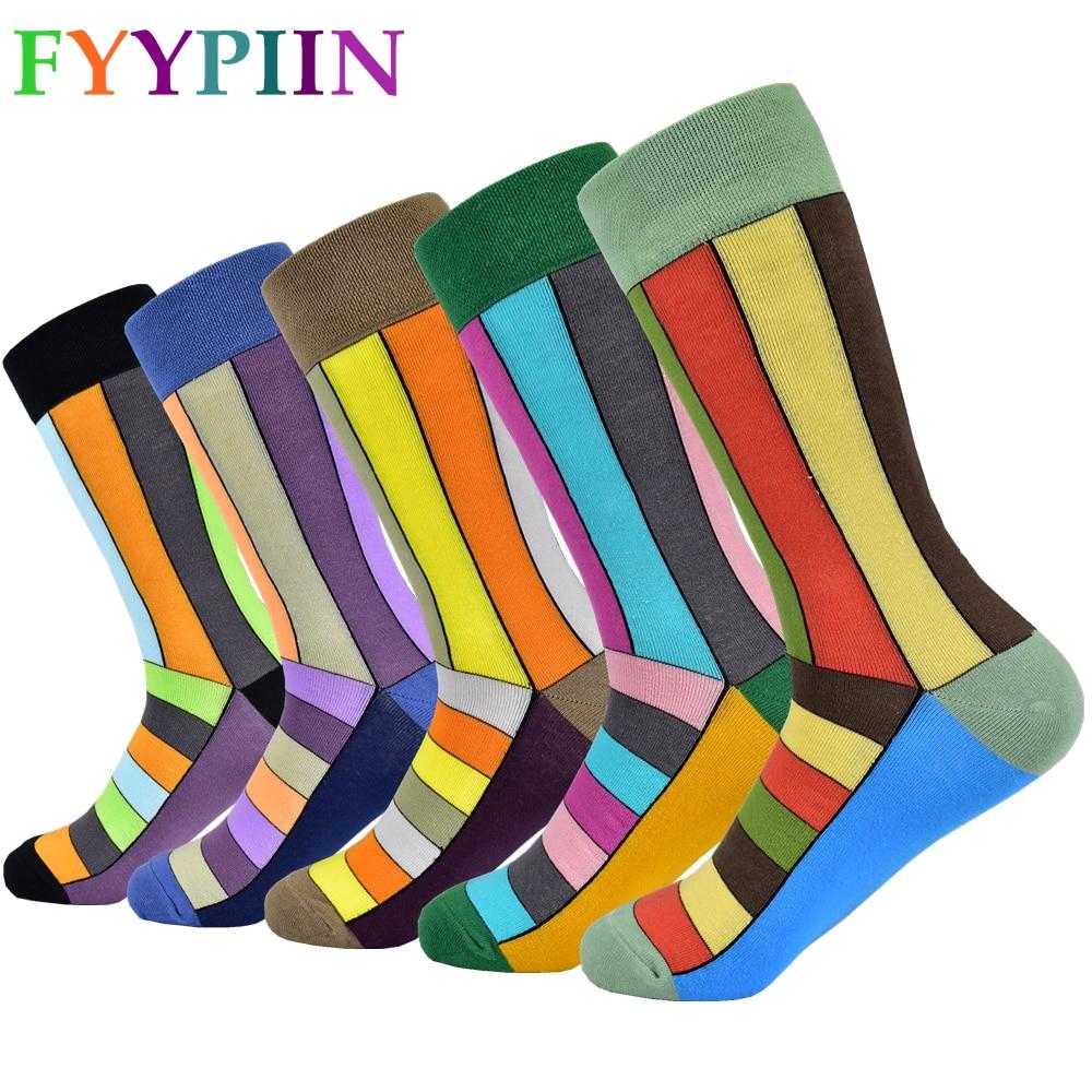 2020 Men's Socks New Casual Cotton Socks Formal Dress Colorful Dress Socks Men