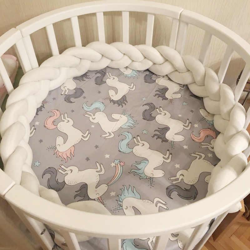 150 سنتيمتر سرير بيبي الوفير عقدة طويلة اليدوية معقود جديلة النسيج أفخم الطفل سرير حامي الرضع عقدة وسادة ديكور غرفة