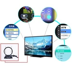Image 2 - Новая 70 МГц DVB T цифровая внутренняя приемная ТВ Антенна широкий диапазон 100 240 в внутренняя приемная ТВ антенна (ЕС вилка)