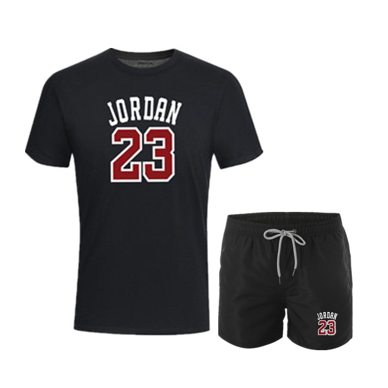 Europe And America Hot Selling MEN'S Sport Suit Nike Air Jordan 23 Printed T-shirt MEN'S Shorts Fashion & Sports Set