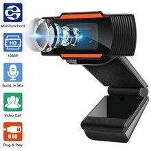 Webcam 1080P Microphone Computer Laptop Youtube Desktop Skype 720P Built-In Full-Hd 480P