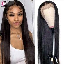 13x4 peruca frontal do laço em linha reta peruca dianteira do laço perucas do laço transparente perucas brasileiras para o cabelo humano feminino 5x5 peruca do fechamento do laço