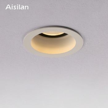 Aisilan راحة LED الشمال مكافحة الضباب النازل زاوية قابل للتعديل المدمج في بقعة ضوء LED AC90-260V 7W للإضاءة في الأماكن المغلقة