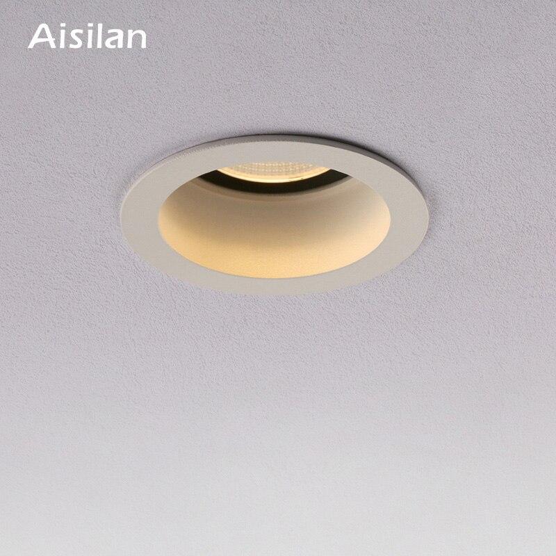 Aisilan Встраиваемый светодиодный скандинавский противотуманный светильник, регулируемый угол, Встроенный Светодиодный точечный светильник ...