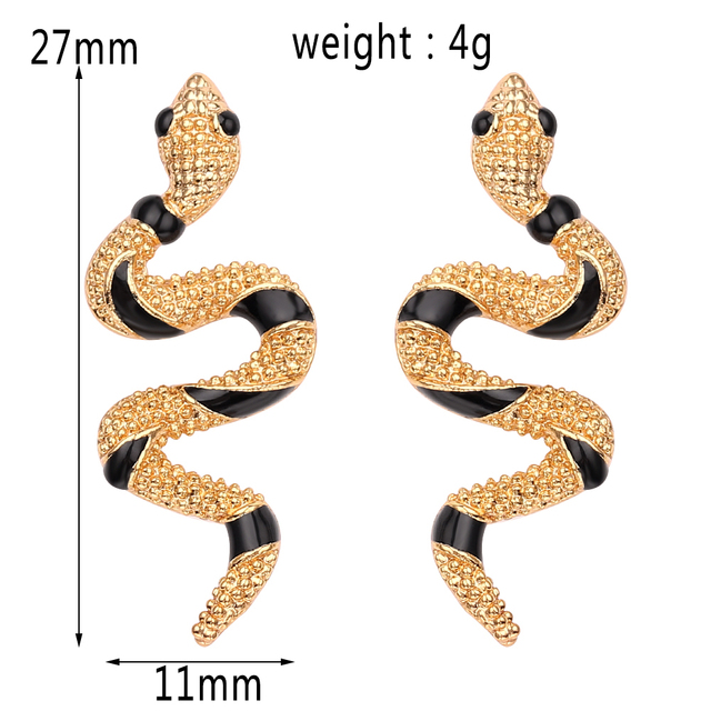 Bijoux Exaggerated Curve Crawl Snake Earrings Women Gold Silver Colors Ear Stud Fashion Charm Punk Jewelry.jpg 640x640 - Bijoux Exaggerated Curve Crawl Snake Earrings Women Gold & Silver Colors Ear Stud Fashion Charm Punk Jewelry Lady Pretty Gift