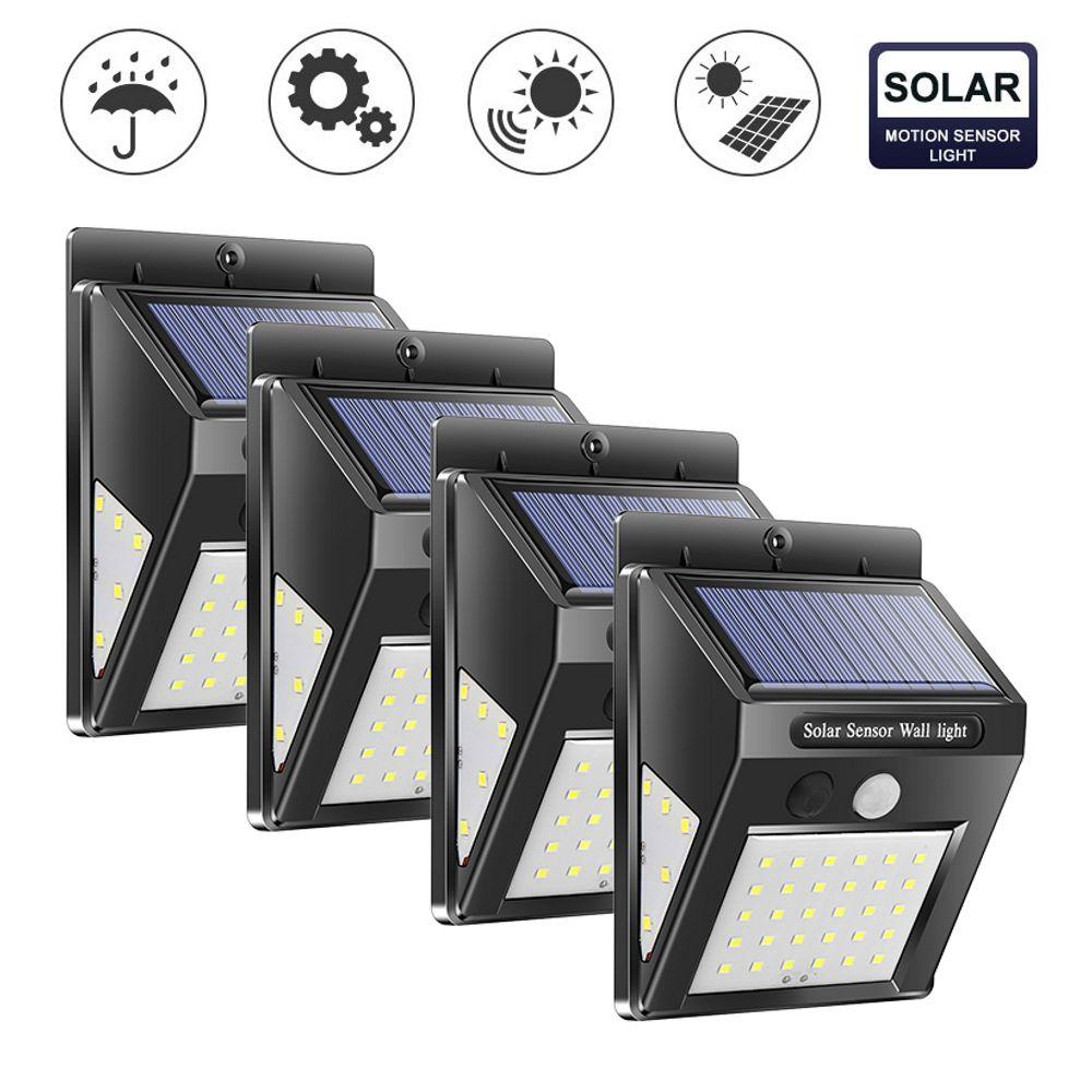 Solar Light Garden 30/40/100 LED Solar Lamp PIR Motion Sensor Solar Powered Motion Waterproof For Outdoor Wall Street Decoration
