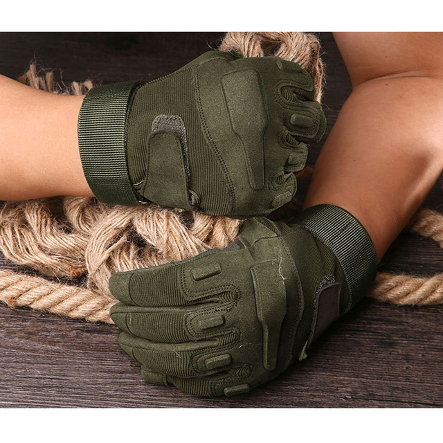 Tactical Full Finger Gloves Outdoor Sports Bicycle Antiskid Gloves Military Army Paintball Shooting Airsoft Cycling Half Glove 5