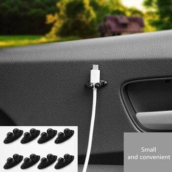 8 sztuk samochodów uchwyt do kabla naklejki dla Chevrolet Cruze Aveo Lacetti Captiva Cruze Niva Spark Orlando Epica żagiel