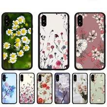 Flores frescas caixa do telefone para huawei p9 p10 p20 p30 p40 lite por psmart 2019