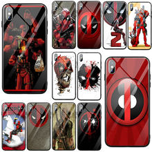 Marvel Hero Deadpool Tempered Glass Transprent Mobile Phone Caess for iPhone 5 5S SE 8 7 6 6S Plus X XR XS 11 Pro Max Bags(China)