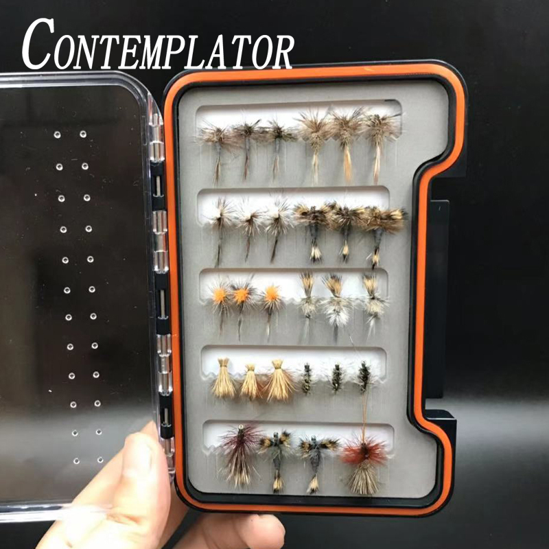 CONTEMPLATOR 28/32/48pcs assorted dry fly fishing lures 3combo common-uesd fly flies explosive striking trout steelhead grayling