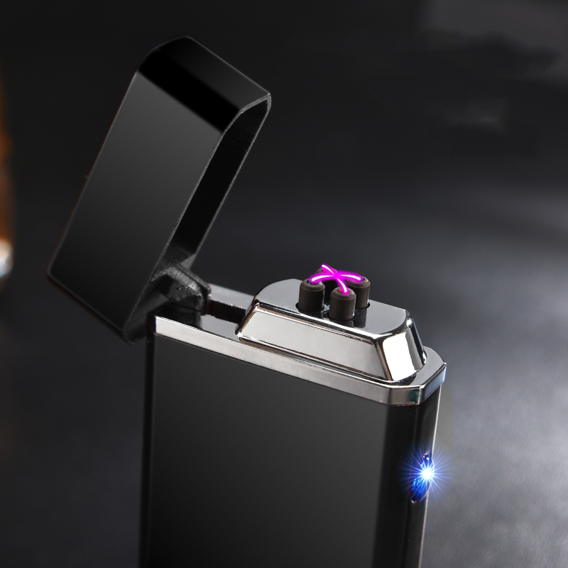 Lafagiet USB Electric Cigarette Lighter Double Plasma Arc Lighter Novelty Windproof Recharging Electronic Lighter Flameless