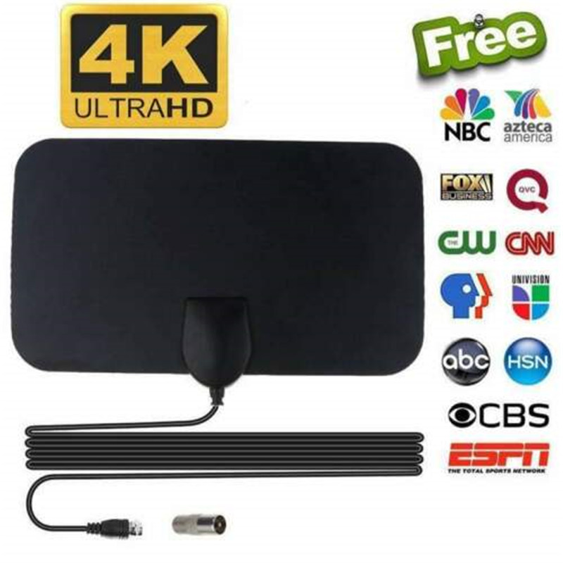 AH-LINK 300 Miles Indoor Antenna For Digital Tv Digital HDTV Antenna  Aerial Satellite Dish HD TV VHF UHF Signal Analog Antennas