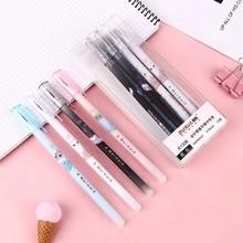 4Pcs Kawaii Cat Erasable Gel Pen Washable Handle 0.5mm Refill Set Pens for School Office Stationery Writing Tools
