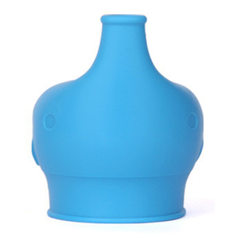 Reusable Elephant Silicone Sippy Cup Lid Flexible Overflow Spill-Proof Cup Cover For Babies Toddlers Drinking Tool
