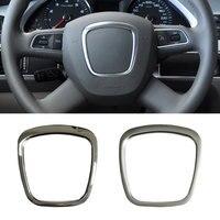Abs volante guarnição capa centro emblema adesivo logotipo anel quadro acessórios para audi a4 b8 b6 b7 a3 8 p s3 a6 c6 q7 q5 a5|Adesivos para carro| |  -