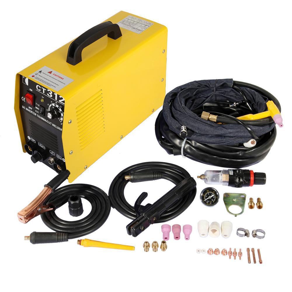 3 In 1 CT312 TIG / MMA / Air Plasma Schweißer Inverter Cutter Mini Schweißen Maschine