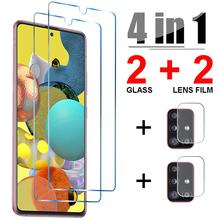 4in1 szkło hartowane dla Samsung A52 A32 A72 A42 A12 5G osłona obiektywu do aparatu Samsung A21S A51 A71 A31 A41 A11 szkło tanie tanio ciaxy Przezroczysty TEMPERED GLASS CN (pochodzenie) 4IN1 Glass for Samsung Galaxy A51 Glass 4IN1 Glass for Samsung Galaxy A71 Glass