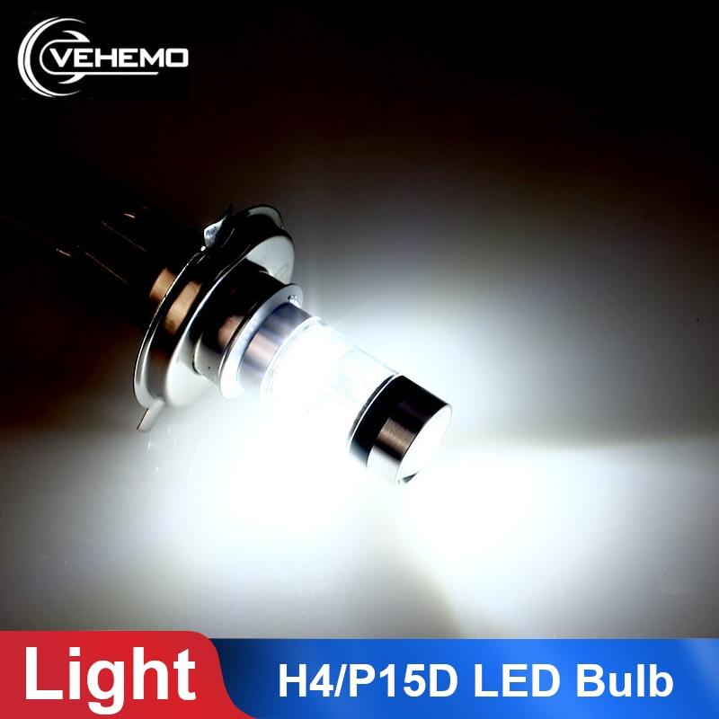 1PC Motorbike H4 P15D 100W LED Motorcycle Headlight Bulb 6000K Hi/Lo Beam Light Car Fog Lamp Brake Turn Signal Reversing Light