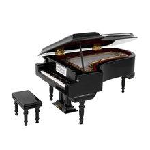 Миниатюрная модель пианино с стулом миниатюрный музыкальный
