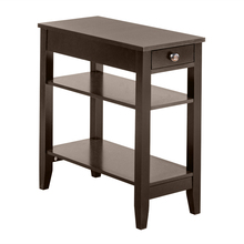 (28.45 x 64 x 61cm)Two Layers of Bedside Table Nightstand with Drawers Brown