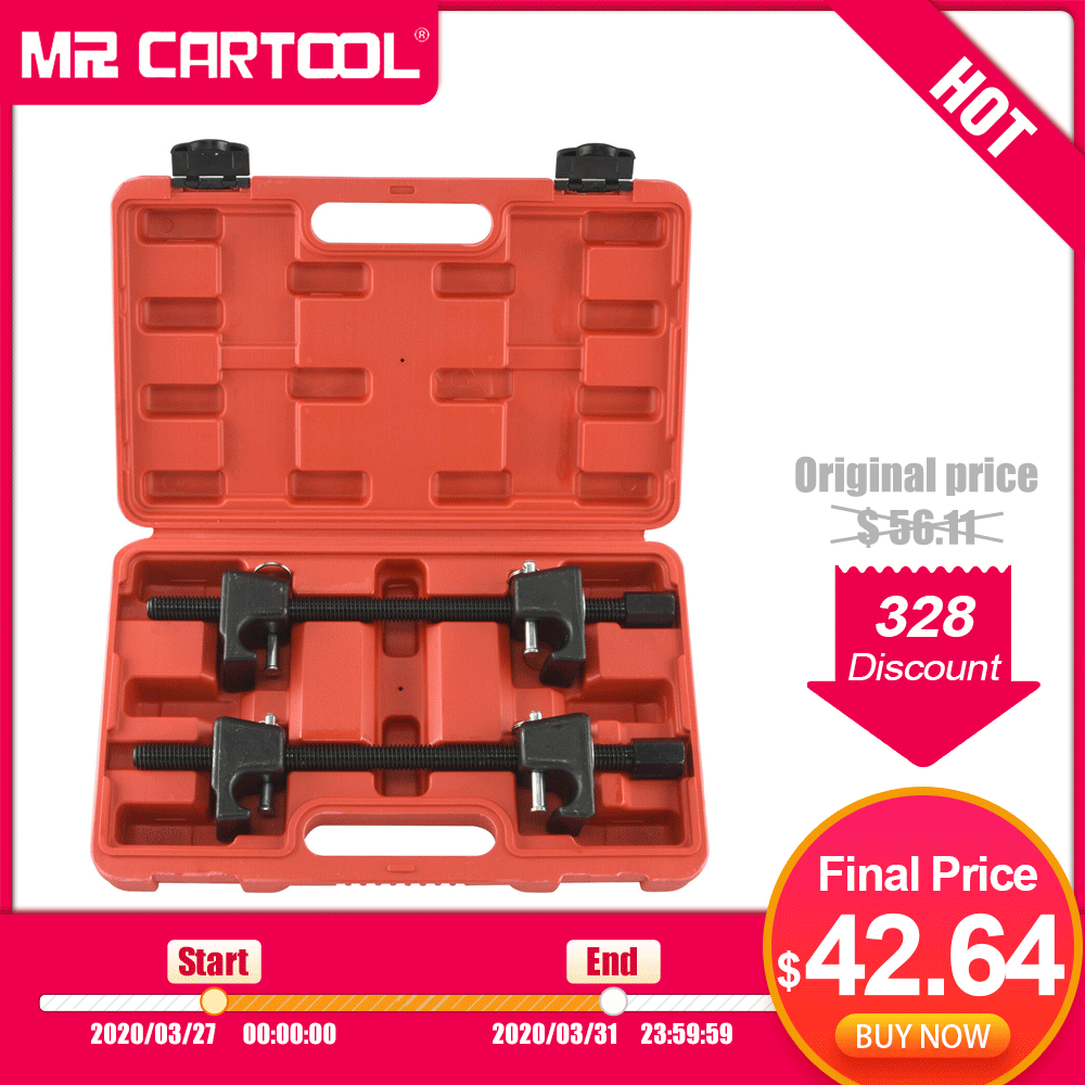MR CARTOOL 2Pc Heavy Duty Macpherson Strut Coil Spring Compressor Clamp Set Remove Shock Absorber Or Spring Tool Car Repair Tool