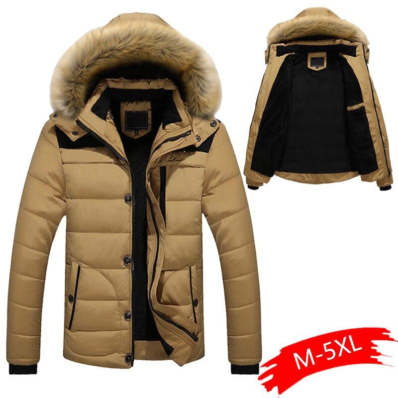 Winter   Parkas   Men 2019 New   Parka   Coat Men Down Keep Warm Fashion Plus Asian Size M-4XL 5XL 6XL Plus Size