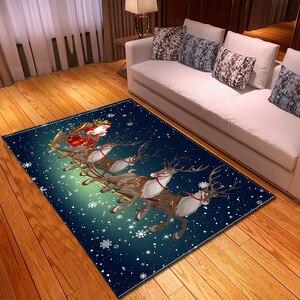 Living Room Carpet Christmas Pattern Children Rug Kids Room Decoration Large Carpet Home Hallway Bedroom Bedside Mat