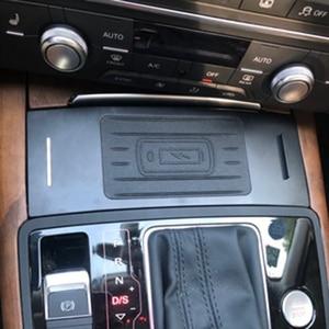 Image 2 - Für Audi A6 C7 RS6 A7 2012 2018 drahtlose ladegerät QI zigarette leichter ladegerät lade platte drahtlose telefon ladegerät zubehör