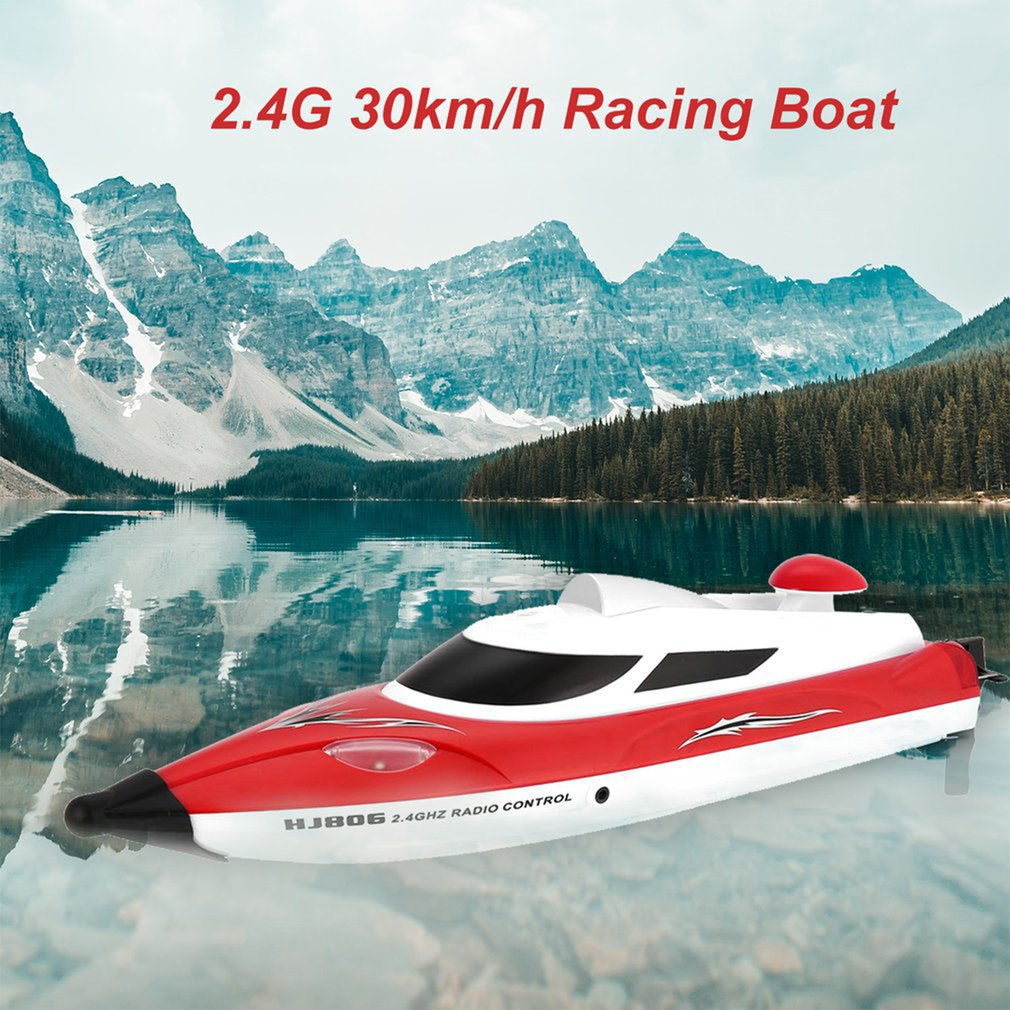 High Speed RC racing Boat 35km/h 200m Control Distance Fast Ship With Water Cooling System HJ806
