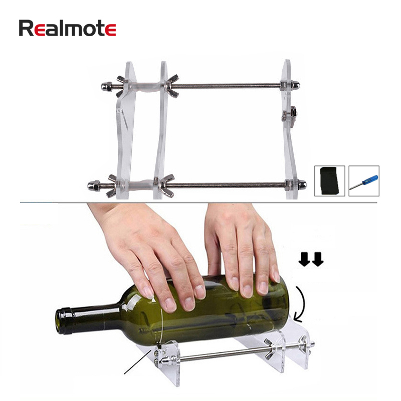 Realmote Machine-Wine-Cup Beer-Bottles Diy-Tools Cut Cutting Glass Bottle-Cutter Professional